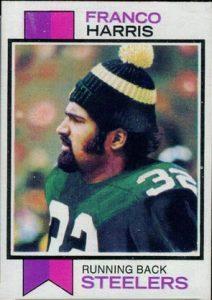 Franco Harris 1973 Topps football card