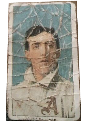 Artificially aged 1909 t206 American Beauty Cigarettes Eddie Plank