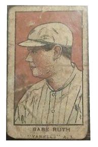 Fake 1921 W551 BABE RUTH CUT SIGNATURE STRIP CARD