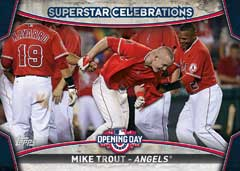 2015 Topps Opening Day Superstar Celebrations Mike Trout