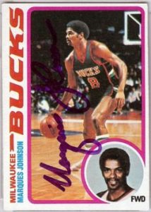 Marques Johnson signed basketball card
