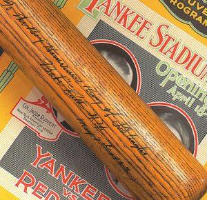 Yankee Stadium home run bat 1923