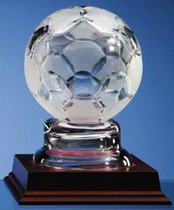 Lead crystal soccer ball