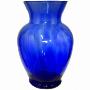 Cobalt glass identified by its deep blue color