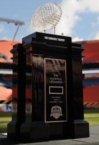 Lead Crystal: University of Florida's 2008 NCAA Championship Football Trophy