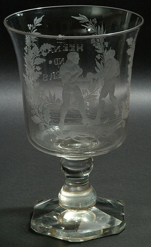 Rare 1860 hand blown boxing glass (Ex-Robert Edward Auctions)