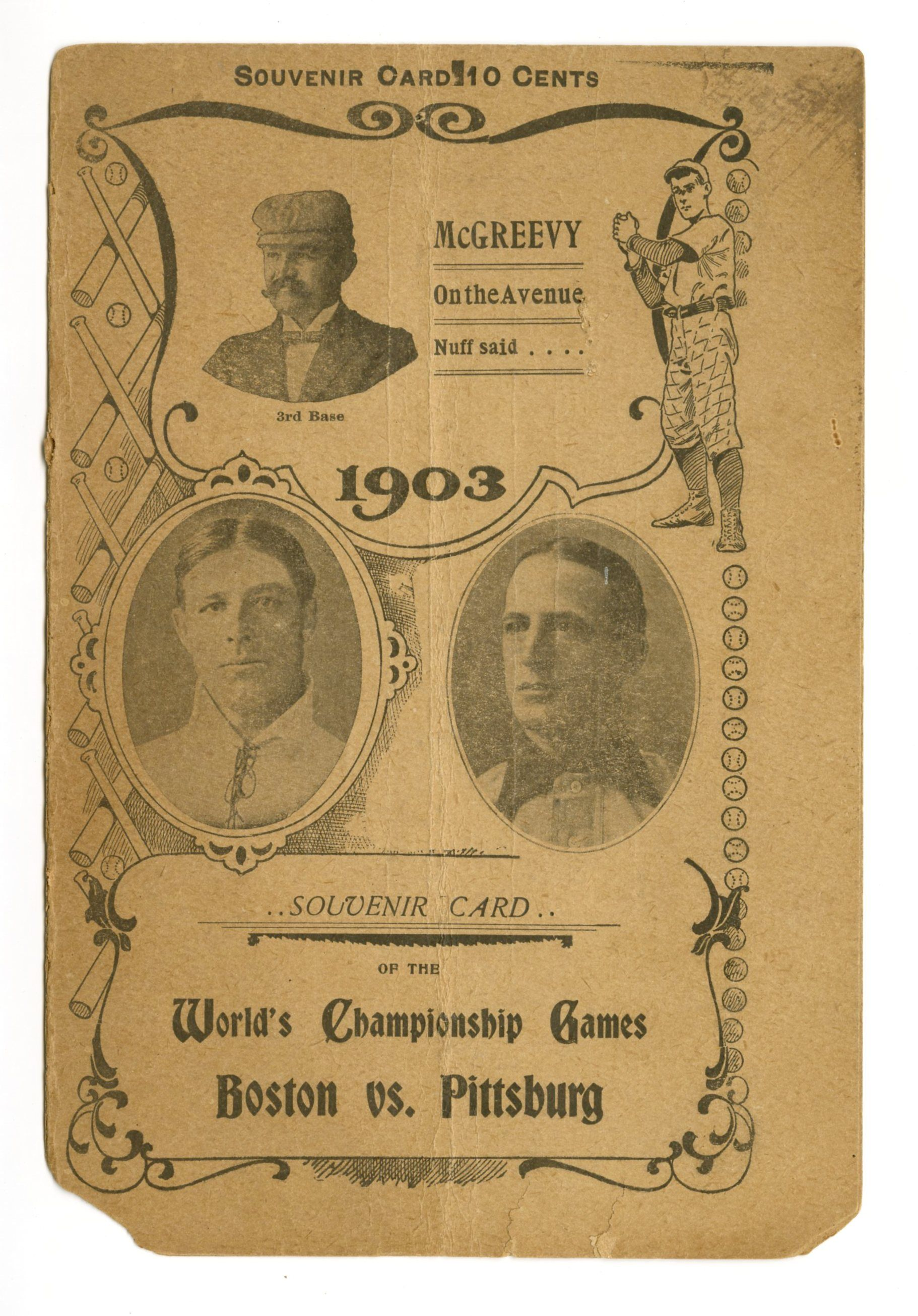 First World Series program