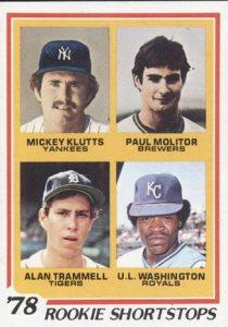 Paul Molitor rookie card