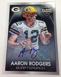 Aaron Rodgers Black Friday autograph