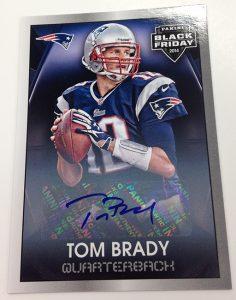 Tom Brady 2014 Black Friday autograph