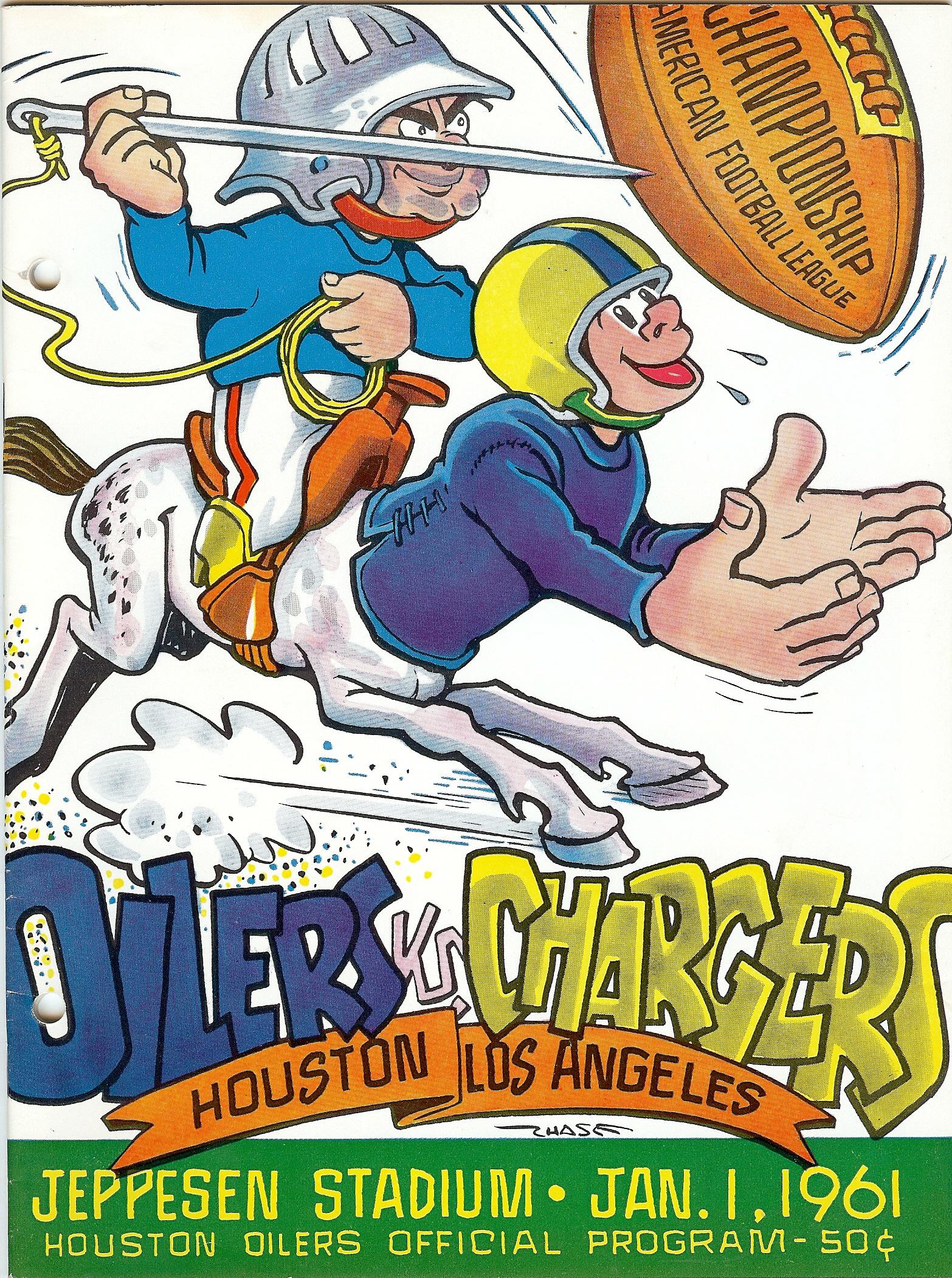 AFL Championship 1960 program