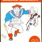 1960 AFL Program Boston Patriots