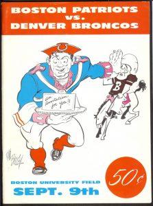 1960 AFL Program Boston Patriots