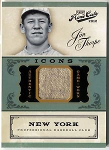 Jim Thorpe relic cards in question