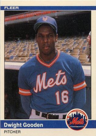 Doc Gooden 1984 Fleer Update rookie card