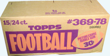 Unopened 1978 Topps cello case football