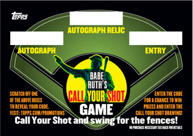 Babe Ruth Topps Call Your Shot