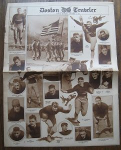 Football rotogravure pictural section from a 1926 newspaper.   Old newspapers often featured special roto pictoral sections.
