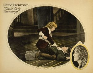 Collotype lobby card for a Mary Pickford silent movie.  Lobby cards were large cards like mini posters that were displayed in theater lobbies.