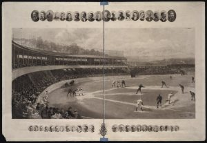 Valuable 1894 collotype print of the Baltimore Orioles Versus New York Giants Temple Cup