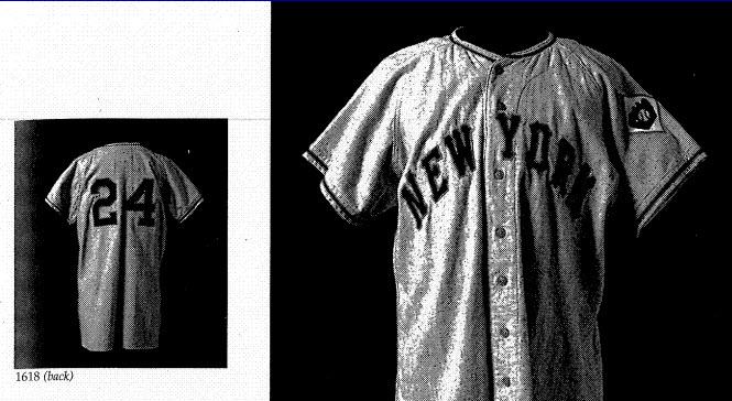 Mays jersey auction catalog