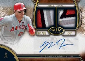 Mike Trout auto 2015 Topps Tier One