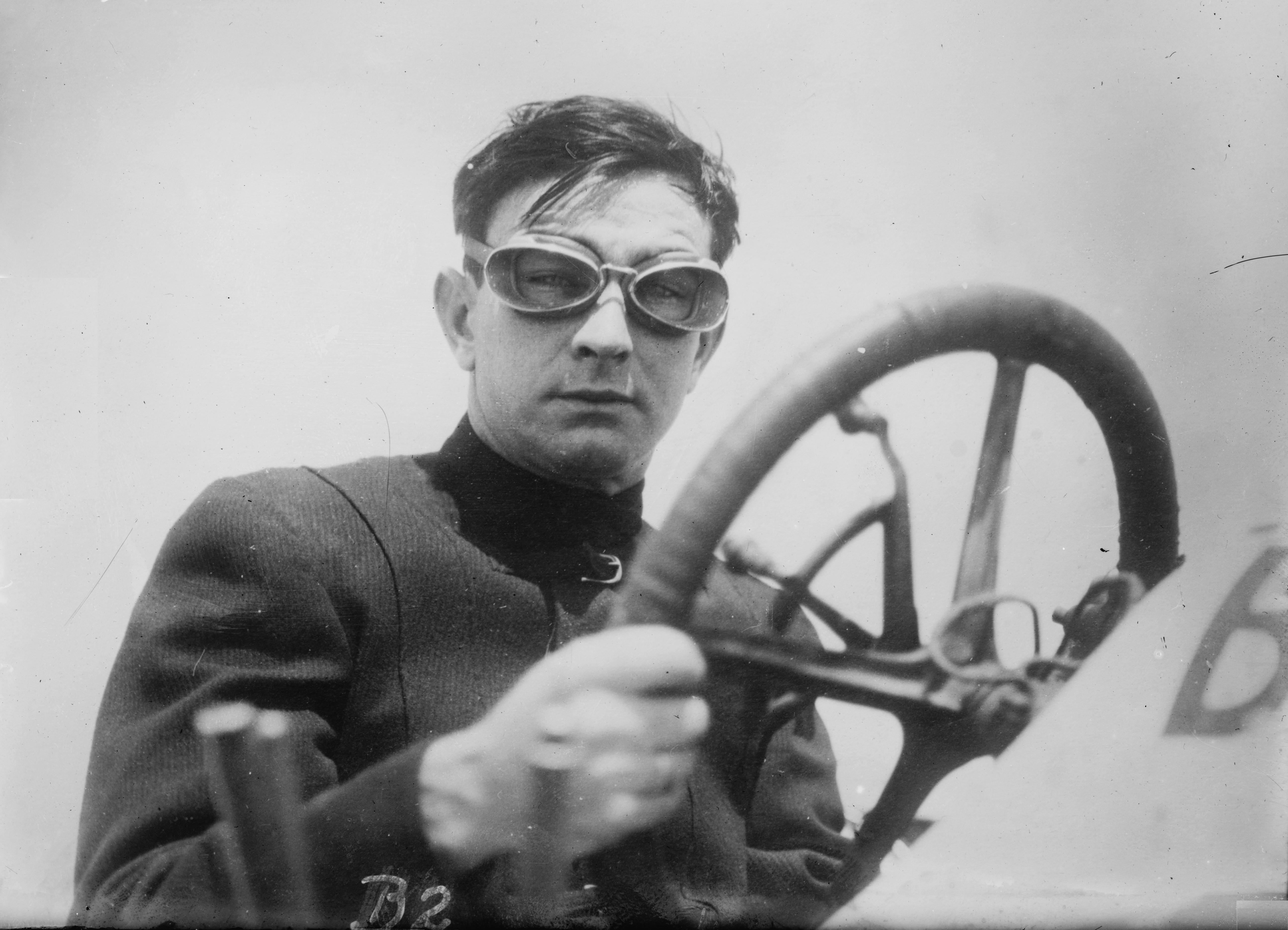 Race car driver Bob Burban in 1911