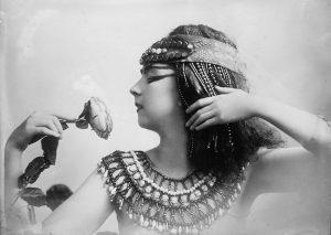 Famous dancer Ruth St. Dennis in custume