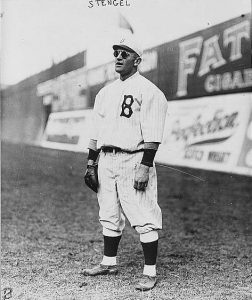 Casey Stengel in his early days as a player for the Brooklyn Dodgers