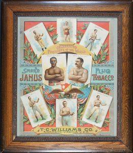 Circa 1888 Janus Tobacco Boxing Poster (Ex- Robert Edward Auctions)