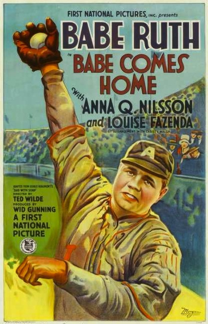 1928 Babe Ruth Comes Home movie poster