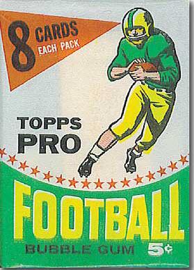 Topps football pack 1964 Topps