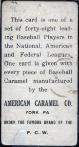 American Caramel 1915 back