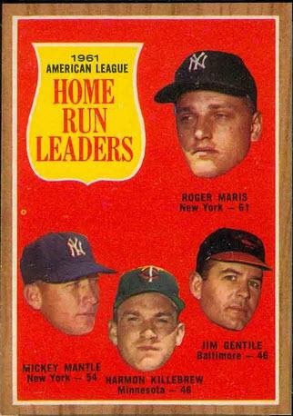 AL Home Run Leaders 1962 Maris-Mantle