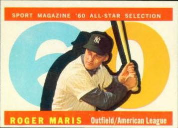 Roger Maris 1960 Topps All-Star