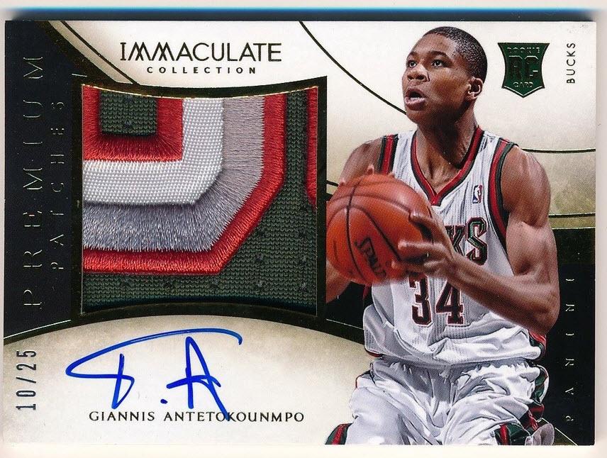 Panini Immaculate 2013-14 Giannis Antetokounmpo basketball card