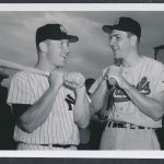 1957 Ken Boyer-Mickey Mantle photo