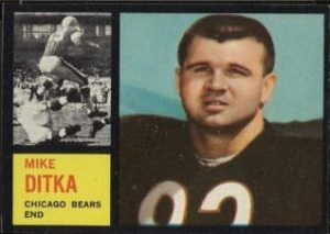 Mike Ditka 1962 Topps rookie card