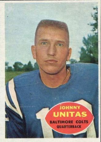 Johnny Unitas 1960 Topps