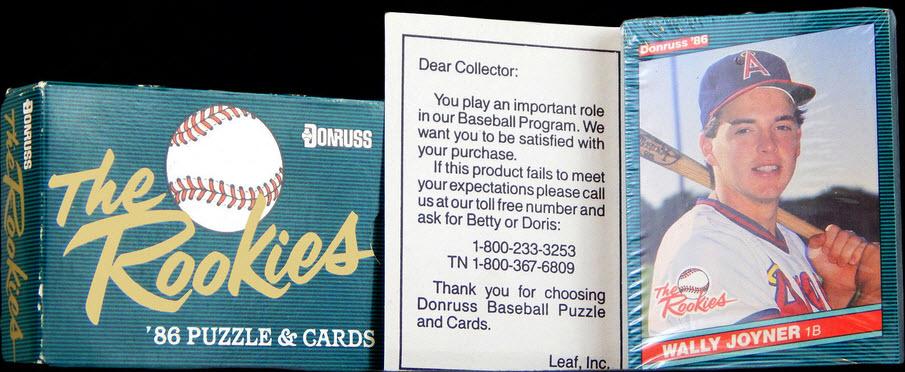 Donruss Rookies Set 1986