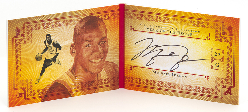 Year of the Horse Michael Jordan auto book 2013-14 Exquisite