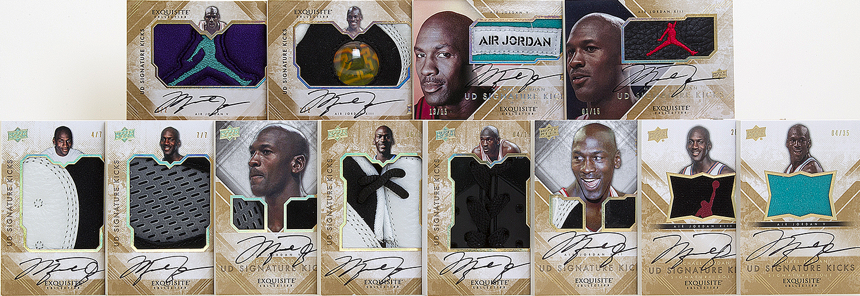 Michael Jordan autographed Signature kicks 2013-14 Exquisite basketball