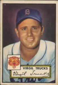 Virgil Trucks 1952 Topps
