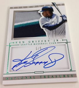2014 National Treasures Ken Griffey Jr autograph