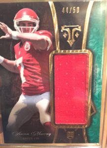 2014 Topps Triple Threads Aaron Murray relic