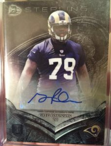 2014 Bowman Sterling Football auto  Greg Robinson autograph