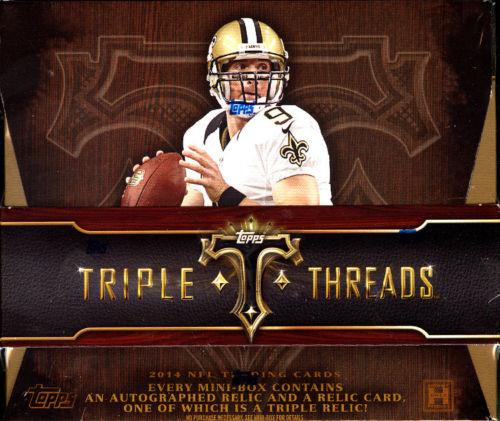 Triple Threads 2014 football hobby box