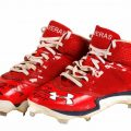 Game worn autographed Oscar Taveras cleats