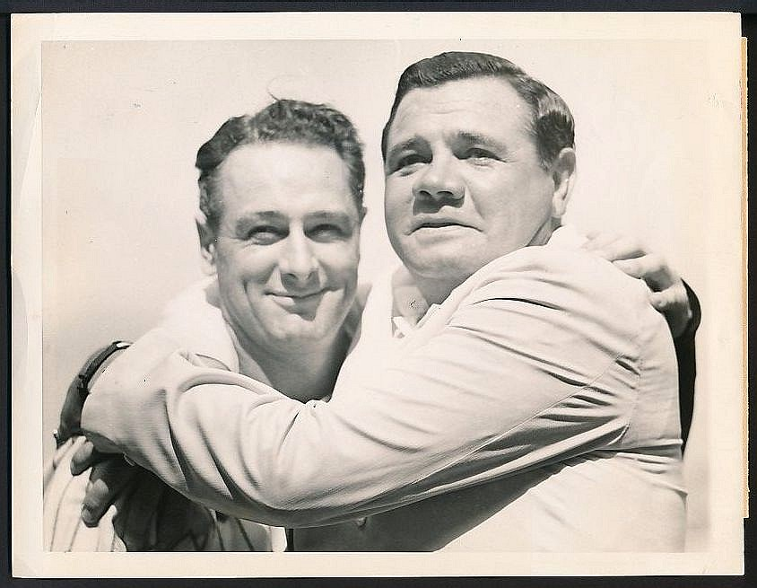 Lou Gehrig Day photo Babe Ruth 1939