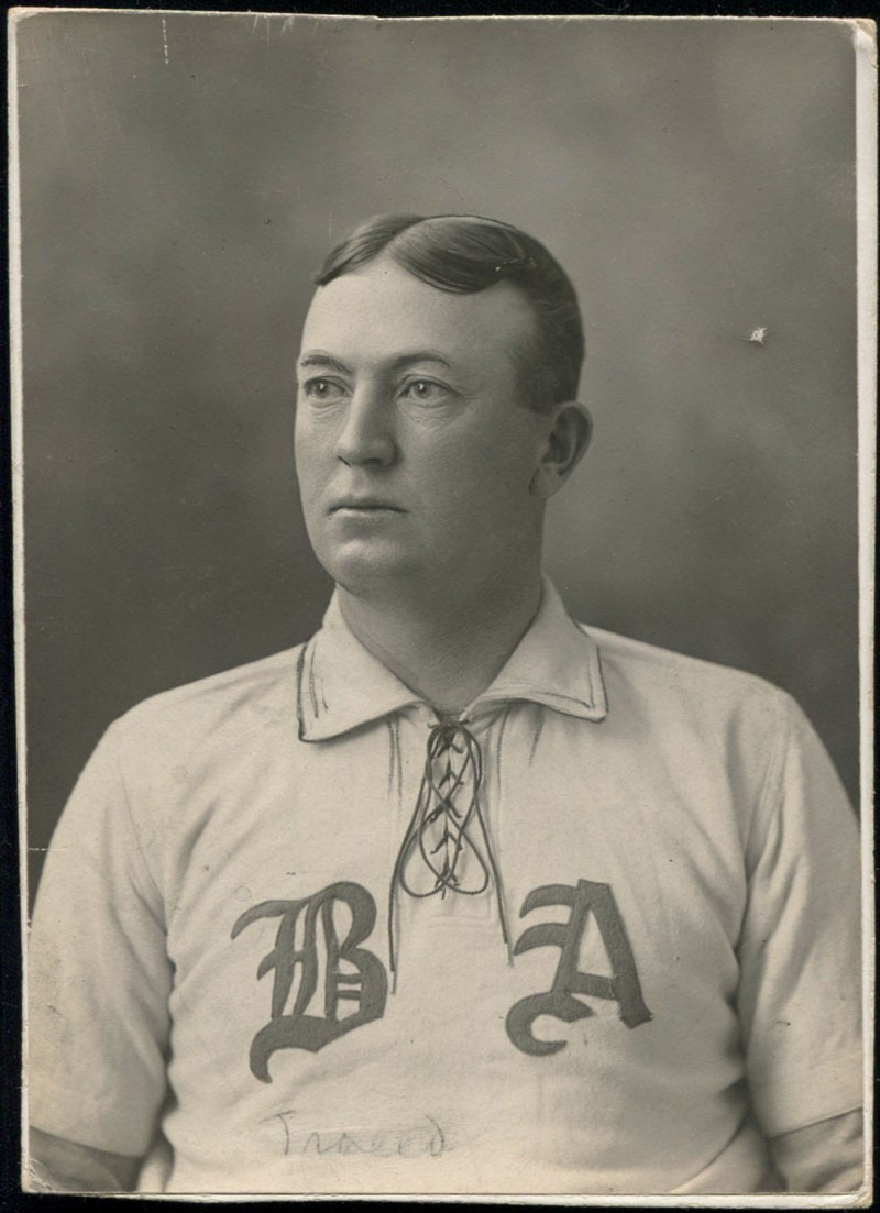 Early 1900s Cy Young Boston Americans studio photograph